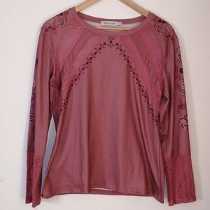 Misslook coton and lace top size small